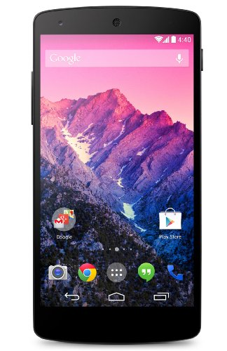 LG Mobile Google Nexus 5 12,6 cm (4,9 Zoll) Smartphone (Touch-Display, 32 GB Speicher, Android 4.4) schwarz
