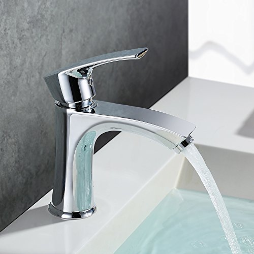 Homelody� Chrom Bad Waschbecken Wasserhahn Waschtisch armatur Einhebelmischer Badarmatur Mischbatterie Waschbeckenarmatur f.Badzimmer