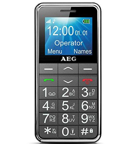 """AEG Gro�tasten Handy, Simlock frei mit 1.8"""" LCD-Display, Notruffunktion & Taschenlampe - Voxtel M250 - Schwarz"""