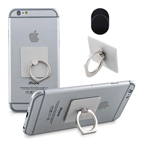 kwmobile Smartphone Finger-Halterung - Ring Fingerhalter f�r verbesserte Einhandbedienung f�r iPhone 6 Plus, Samsung Galaxy S6, Note 4, Sony Xperia und mehr in Silber