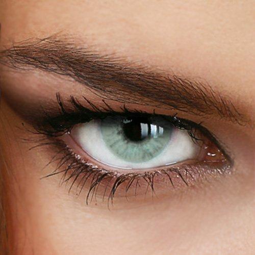 Farbige Jahres-Kontaktlinsen Naturally SWEET GRAY - OHNE St�rke in GRAU - von LUXDELUX� - (+/- 0.00 DPT)
