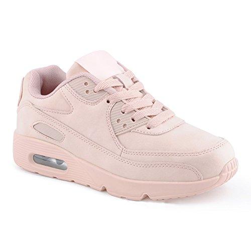 Damen Sneaker Sportschuhe Turnschuhe Laufschuhe Schuhe Pink/Pink/Pink EU 39