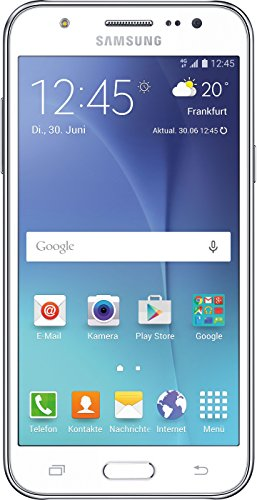 Samsung Galaxy J5 Smartphone (5 Zoll (12,7 cm) Touch-Display, 8 GB Speicher, Android 5.1) wei�