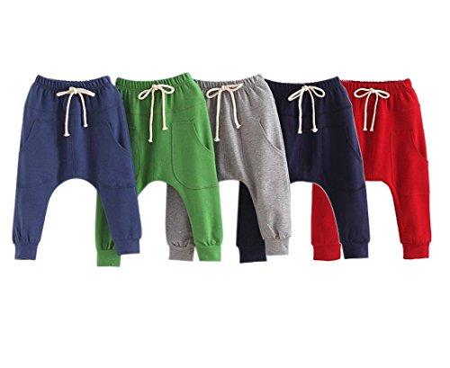 Kinder Jungen Hosen Long Pants-LOSORN ZPY Baby Sommer Baggy Harem Freizeit Sport Hose, Gruen Gr. 110 (3-4Jahre)