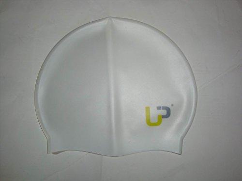 ULTRAPOWER� SPLASH Badekappe Silikon (Wei� Schwimmbad Meer Schwimmsport Badem�tze Badehaube)