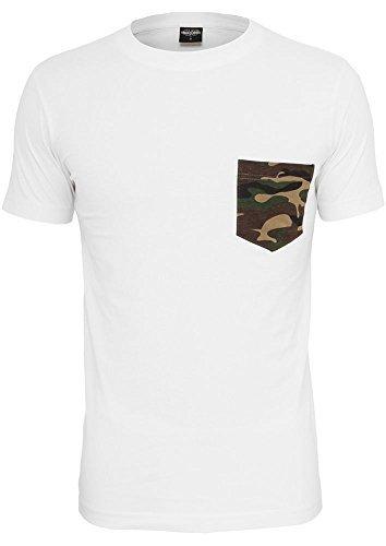 Urban Classics Herren T-Shirt Rundhals white/camouflage M