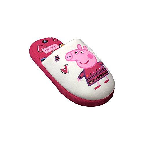 Peppa Pig - M�dchen / Kinder Rosa und Sahne Anti-Rutsch-Sohle Greifer Pantoffeln (5-6 Jahre / 29-30 Eur, Sahne)