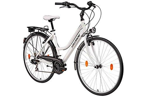 28'' Damen Fahrrad City Bike Citybike Hillside Florida 21 Gang Shimano Tourney Schaltung Beleuchtung Gep�cktr�ger Seitenst�nder