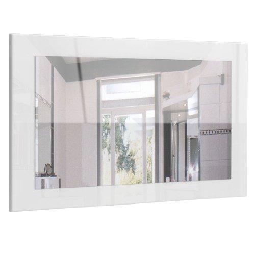Spiegel Wandspiegel Lima 89cm in Wei� Hochglanz