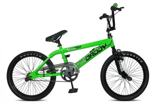 20' BMX Rooster Big Daddy Spoked 4 Farben Model 2012 4 x Stunt Pegs 360 Grad Rotor, Farbe:gr�n