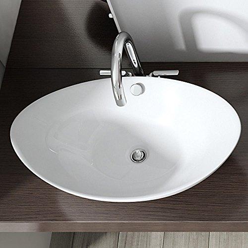 BTH: 58x38x19 cm Design Aufsatzwaschbecken Br�ssel818, aus Keramik, Waschbecken, Waschtisch