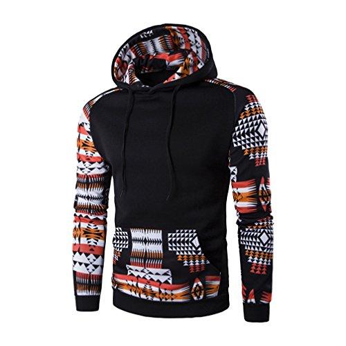 Herbst Winter Herren Warm Rundhalsausschnitt Mit Vordertaschen Kordelzug L�ssige Sweatshirts Sweater Kapuzenshirt Kapuzenpulli