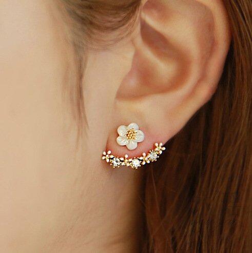 SwirlColor Neue Art-kleine nette G�nsebl�mchen-Blumen-Bolzen-Ohrringe f�r UPC Frauen Schmuck Accessoires