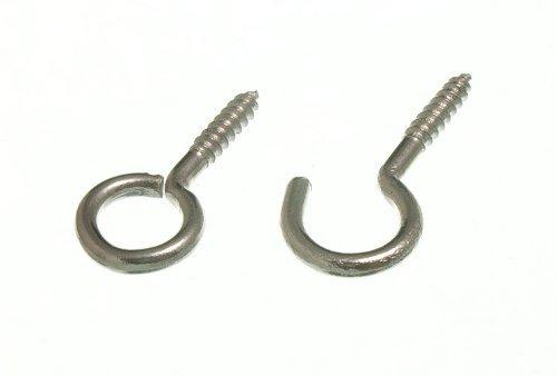 Vorhang net wire Schraube im Rahmen Haken und �sen cp verchromt (50 von jedem)
