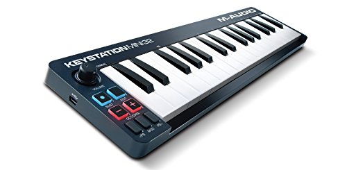 M-Audio Keystation Mini 32 II Mobiler USB MIDI Keyboard Controller mit 32 Tasten (Ignite, Ableton Live Lite)