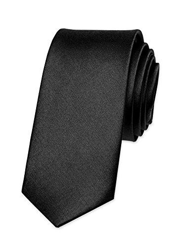 Autiga� Krawatte Herren Hochzeit Konfirmation Slim Tie Retro Business Schlips schmal schwarz