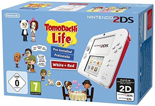 Nintendo 2DS - Konsole (wei� + rot) inkl. Tomodachi Life (vorinstalliert)