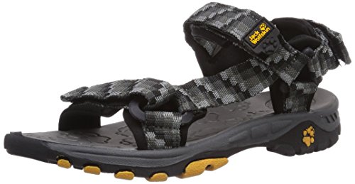 Jack Wolfskin KIDS SEVEN SEAS, Unisex-Kinder Sport- & Outdoor Sandalen, Grau (dark steel 6032), 34 EU (2 Kinder UK)