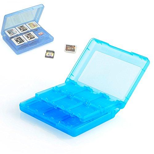 Neuftech Spiele H�lle Game Card Holder Case f�r Nintendo 3DS XL, 2DS/3DS, DSi XL, DSi und DS-Spiele - Spielkarten Halter f�r 22 Spiele und 2 Speicherkarten -Blau