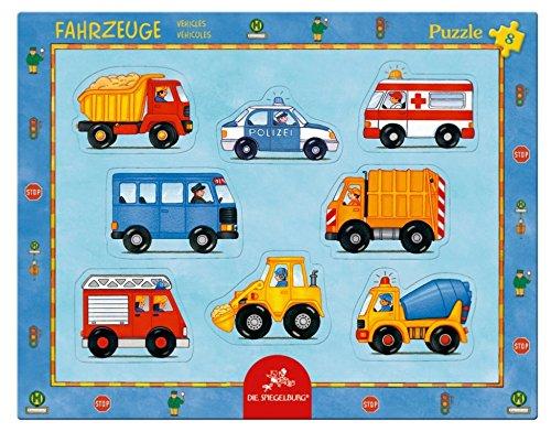 Spiegelburg 8�St�ck Fahrzeuge Rahmen Puzzle, 37�x 29�cm, Modell # 11410