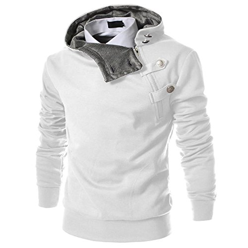 Healthy Clubs Herren M�nner Solid Langarm Kapuzenpullover Hoodies Sweatshirt