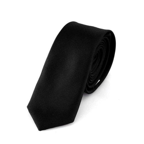 Schmale schwarze handgefertigte Krawatte 5 cm // verschiedene Farben w�hlbar