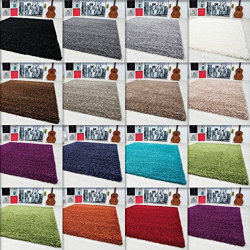 Hochflor Shaggy Teppich Langflor Carpet Wohnzimmer einfarbig Rechteck / Rund Teppiche, Ma�e:60x110 cm;Farbe:Beige