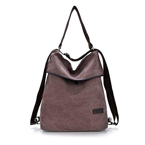 HingyuTing Vintage Canvas Damen Schultertasche Retro Rucksack Multifunktionale Tasche f�r Arbeit, Schule und L�ssige t�glich