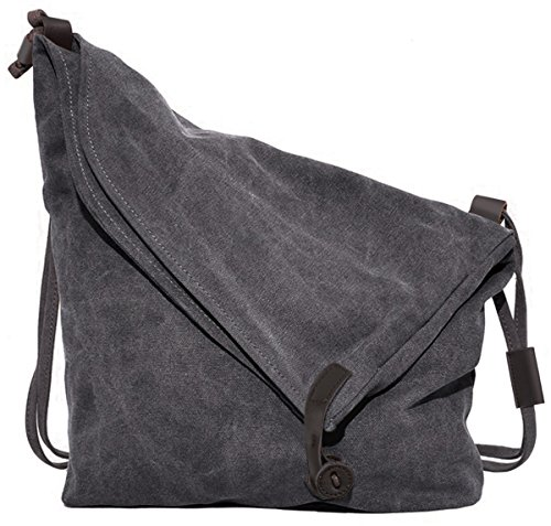 Coofit Damen Herren Canvas Leinwand Rucksack Umh�ngetasche Messenger Bag Schultertasche Tasche