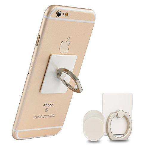 Incutex Finger-Halterung - Handy-Griff Ring - Handy St�nder Haken Smartphone Grip f�r die Hand in wei�