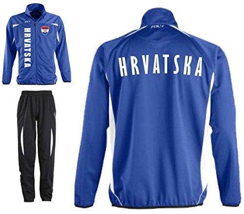 KROATIEN Trainingsanzug - Sportanzug - S-XXL - Fu�ball Fitness (S)