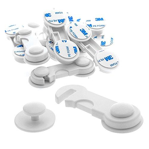10 Stk. Offgridtec T�rsicherung Schranksicherung Schubladensicherung Kindersicherung T�rriegel