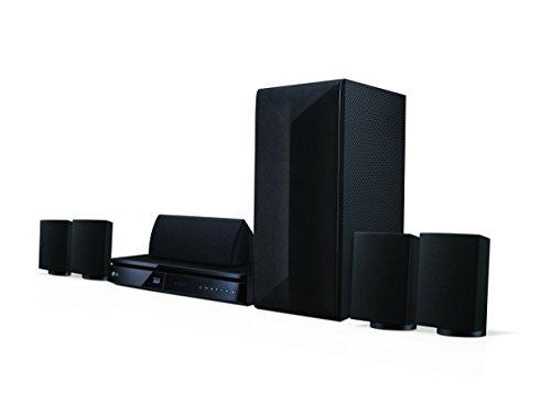 LG LHA725 5.1 3D Blu-ray Heimkinosystem (1000 Watt, Smart TV, DLNA, Bluetooth, 1080p Upscaling) schwarz