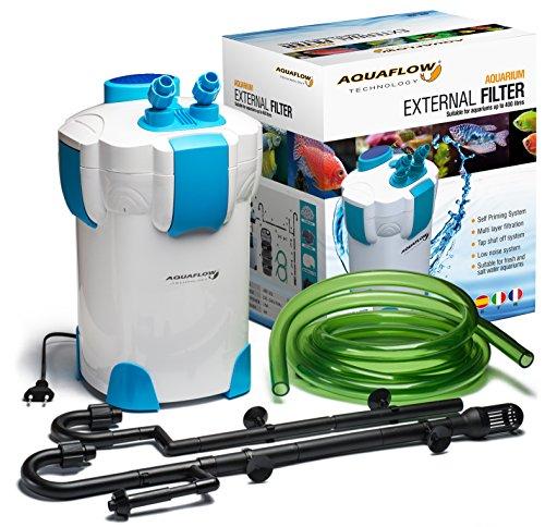 Aquaflow Technology� Super�AEF-�302 -�3 Stufen Au�enfilter f�r Aquarien bis zu 75 (Gallonen) 400 Liter (f�r S��- oder Salzwasser). Freie Filtermedien sind im Preis inbegriffen