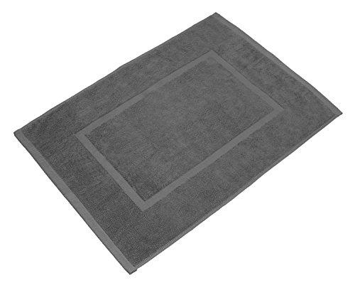 SOLEO Badvorleger Royalgrau 50 x 70cm in Premium Qualit�t aus 100% Baumwolle, Dichte 650 g/m�, inklusive 2 Jahren Zufriedenheitsgarantie - Badematte / Badteppich / Duschvorleger