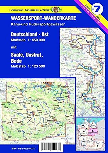 Wassersport-Wanderkarte / Deutschland Ost f�r Kanu- und Rudersport