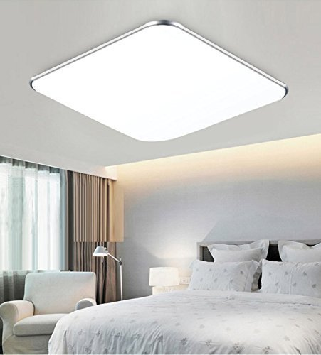 SAILUN 12W Kaltwei� Ultraslim LED Deckenleuchte Modern Deckenlampe Flur Wohnzimmer Lampe Schlafzimmer K�che Energie Sparen Licht Wandleuchte Farbe Silber