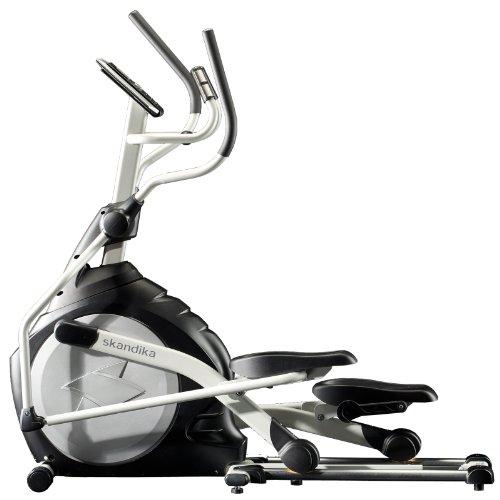 Skandika Crosstrainer CardioCross Carbon Pro SF-3200, 23,5 kg Schwungmasse, wartungsarmes Bremssytem �ber Magnettechnologie, Transportrollen, Kalorienverbrauch, Zeit und und Pulsmessung