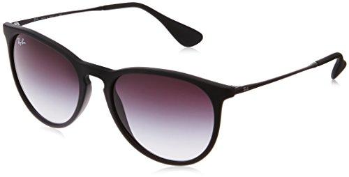Ray Ban Unisex Sonnenbrille Erika, Gr. Medium (Herstellergr��e: 54), Schwarz (Gestell: schwarz, Gl�serfarbe: grau verlauf 622/8G)