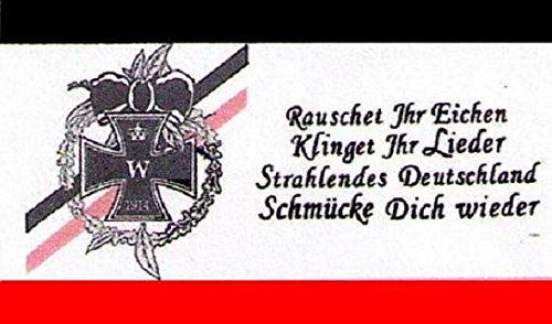 U24 Fahne Flagge Deutsches Reich Rauschet ihr Eichen Deutschland 90 x 150 cm