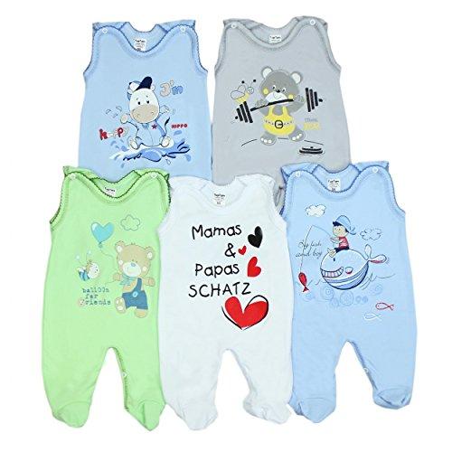 5er Set Baby Strampler 100% Baumwolle Babystrampler Strampelanzug Junge M�dchen, Farbe: Junge 2, Gr��e: 74