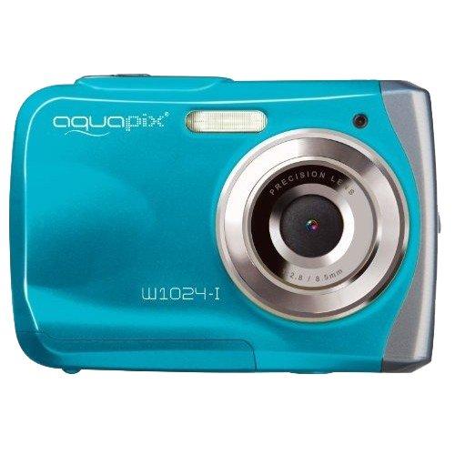 """Easypix 10012 Unterwasser Digitalkamera """"Aquapix W1024-I Splash"""" in Eisblau"""