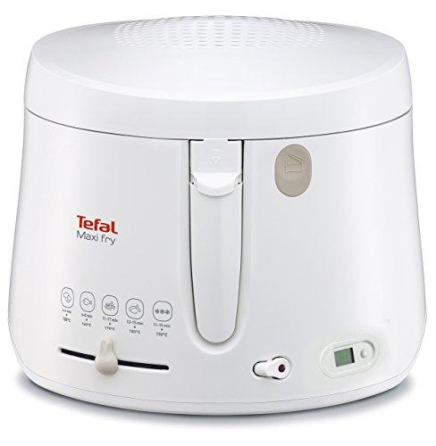 Tefal FF1001 Maxi Fry / 1.900 Watt / Timer / w�rmeisoliert/ 1,2 kg Fassungsverm�gen / wei�