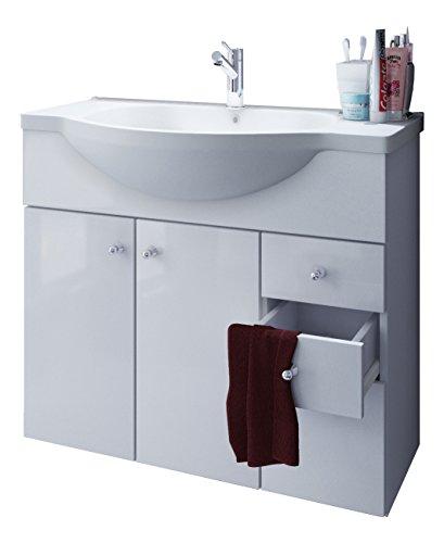 VCM Waschplatz Misalo ll, Badm�bel Unterschrank + Waschbecken, Waschtisch