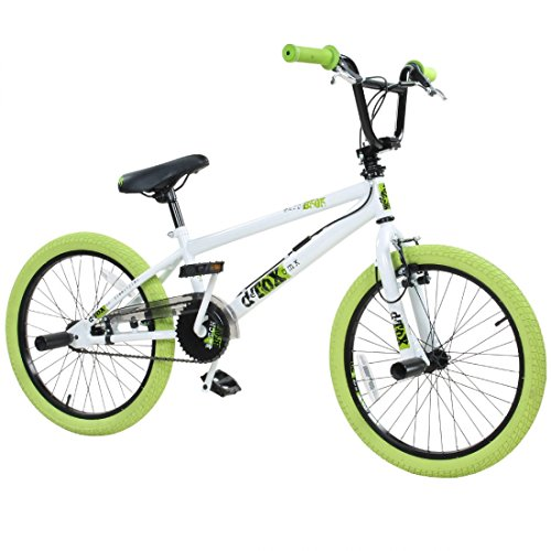 20' BMX deTOX Freestyle Kinder BMX Anf�nger, Farbe:weiss/gr�n