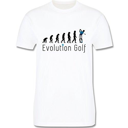 Evolution - Evolution Golfspieler - XL - Wei� - L190 - Premium Kurzarm T-Shirt f�r Herren