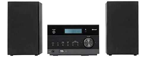 MEDION LIFE P64112 (MD 43728) Micro-Audio-System mit Bluetooth-Funktion, USB, MP3, CD, PLL Stereo UKW Radio, AUX, 2 x 50 Watt, schwarz