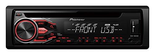 Pioneer DEH-1800UB CD-Tuner mit RDS, USB und AUX-Eingang f�r FLAC-Dateien (1-DIN) schwarz