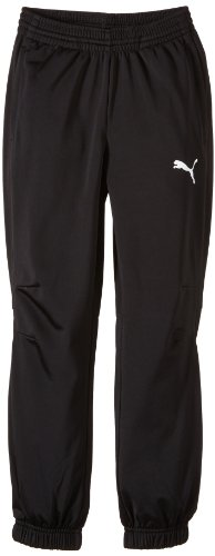 PUMA Kinder Hose Trikot Pants, black-white, 140, 653974 03