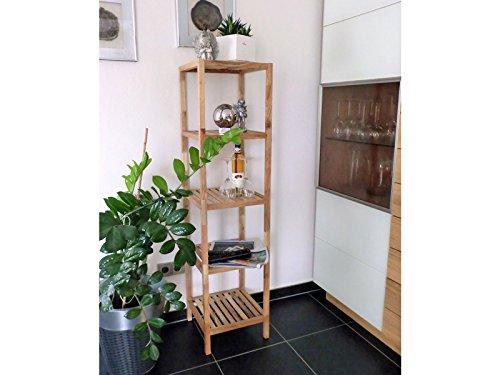 """Badregal K�chenregal Standregal Holzregal Wohnzimmerregal / aus Walnuss-Massivholz ca. 145*36*36 cm """"Walnut I"""" (5 Ablagen)"""